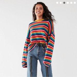 The ragged priest rainbow sweater top